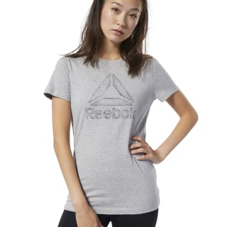 Graphic Series Traced Delta Crew Tee Medium Grey Heather EC2030