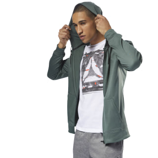 Workout Ready Thermowarm Full-Zip Hoodie Chalk Green D94230