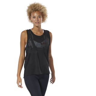 Perforated Tank Top Black DU4122