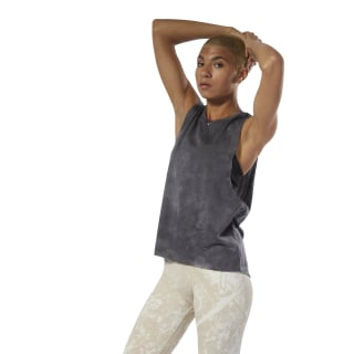 Combat Spray Dye Tank Top Flat Grey DU4961