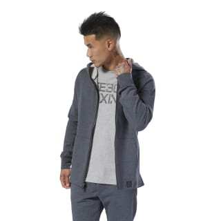 Combat Legacy Full-Zip Hoodie Dark Grey Heather DU4977