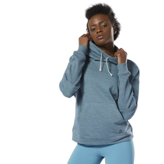 Training Essentials Marble Cowl Neck Sweatshirt Teal Fog DP6666