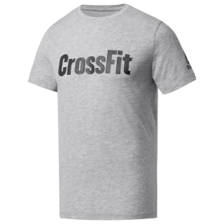 Reebok CrossFit Speedwick F.E.F. Graphic Tee Medium Grey Heather DP6220