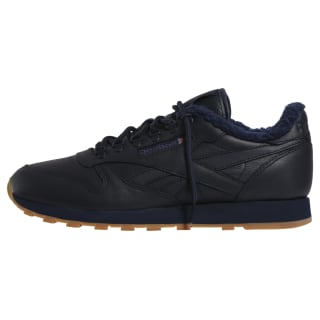Кроссовки Classic Leather Sherpa TS Collegiate Navy-Gum BD2922