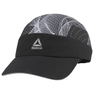 Running Graphic Perforated Cap Black DU2815