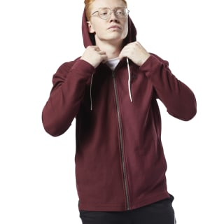 Training Essentials Twill Hoodie Lux Maroon EC0794