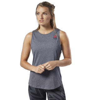 Reebok CrossFit® Games ACTIVCHILL + Cotton Tank Top Mgh Solid Grey / Black EC1496