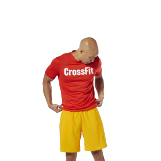 Спортивная футболка Reebok CrossFit Speedwick F.E.F. Graphic canton red DT2773