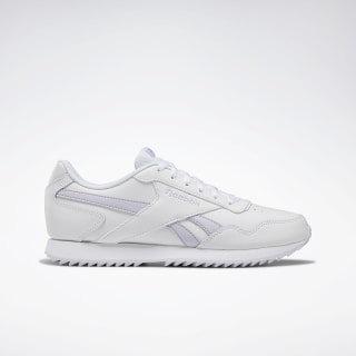 Reebok Royal Glide Ripple Shoes White / Lucid Lilac DV8888