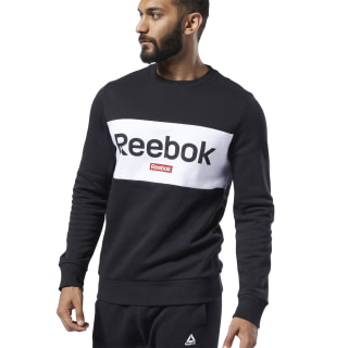 Training Essentials Linear Logo Sweatshirt Black EJ9863