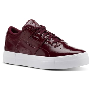 Workout Lo Shny Suede-Rustic Wine/White CN3563