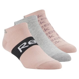 Reebok Low Cut Sock - 3pack Chalk Pink / Medium Grey Heather / Chalk Pink CV6911
