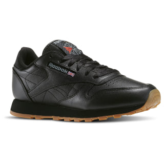Classic Leather Women's Shoes Black / Gum 49802