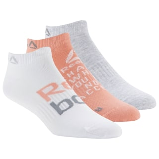 Foundation Womens 3-Pack No-Show Sock Stellar Pink / Light Grey Heather / Porcelain DU2816