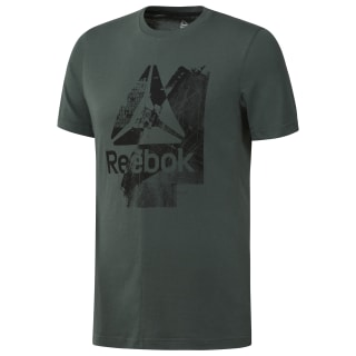 Elevated Elements Brand T-Shirt Chalk Green D94151