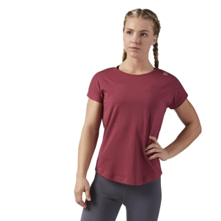Workout Ready Mesh Tee Urban Maroon CE1164