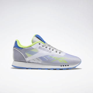 Classic Leather ATI Shoes White / Neon Lime / Crushed Cobalt EH1036