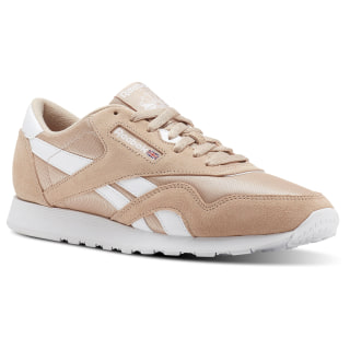 Classic Leather Nylon M Sf-Bare Beige/White CN3262
