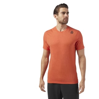 Reebok CrossFit Performance Blend Graphic Tee Orange/Bright Lava Melange CE2636
