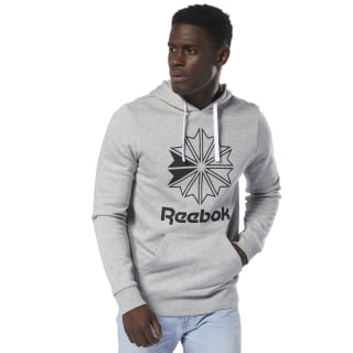 Sweat à Capuche avec grand logo Classics Medium Grey Heather DT8131