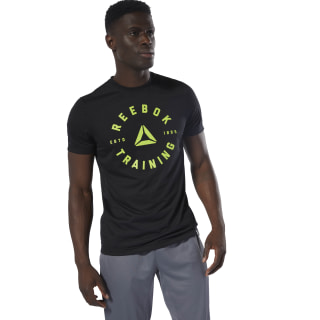 Camiseta GS Training Speedwick Black / Neon Lime DU4653