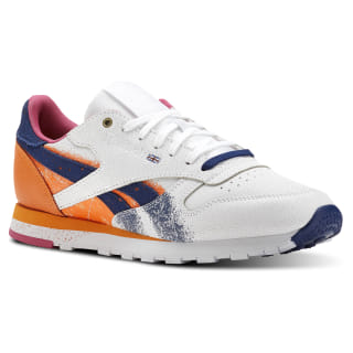 Classic Leather Montana White / Pure Orange / Marine / Pink CN6043