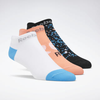Calcetines Invisibles Run Club Para Mujeres3 Pares Bright Cyan / White / Stellar Pink EC5528