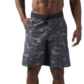 Reebok CrossFit Super Nasty Tactical Board Short Grey / Black CD7603