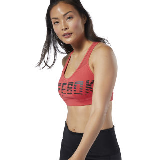 Hero Strappy Medium-Impact Padded Bra Rebel Red EB8164