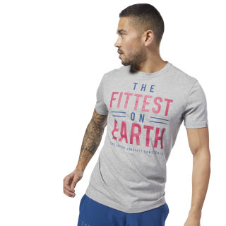 T-shirt Reebok CrossFit Fittest on Earth Medium Grey Heather DN2390