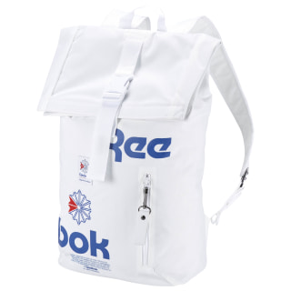 Classic Fold-Top Backpack White CW5012