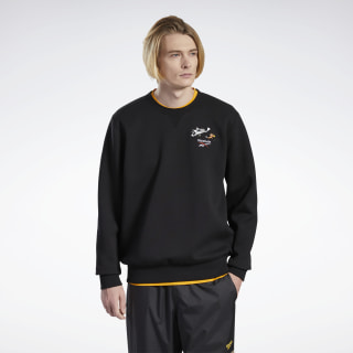Tom and Jerry Crew Sweater Black GJ0464
