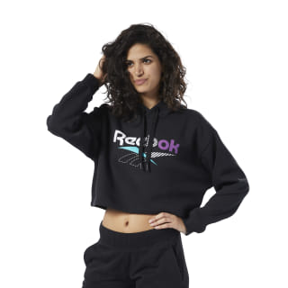 Classics V Alter the Icons Cropped Hoodie Black EK1736