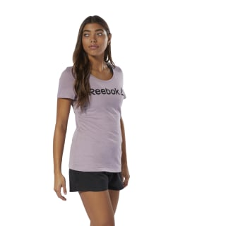 Reebok Scoop Neck T-Shirt Lilac Fog DU4650