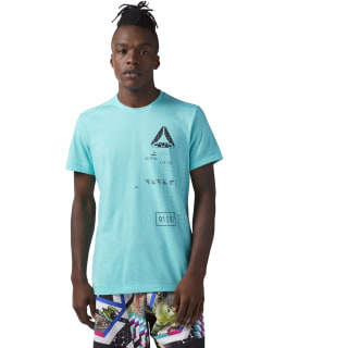 T-shirt SpeedWick Graphic Turquoise / Solid Teal CF3741