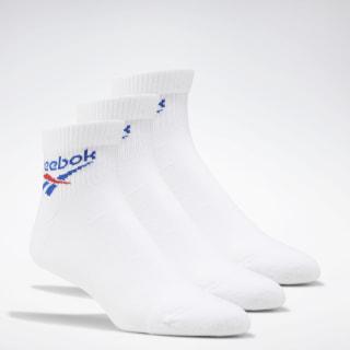 Classics Foundation Ankle Socks 3 Pairs White FL9312