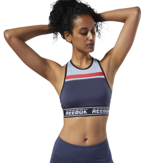 Meet You There Low-Impact Bralette Heritage Navy EC2428