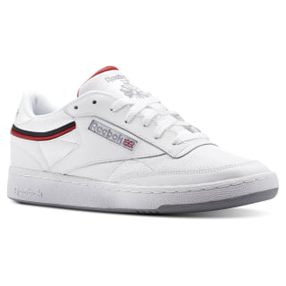 Club C 85 Sptlt-White / Collegiate Navy / Excellent Red CN3761