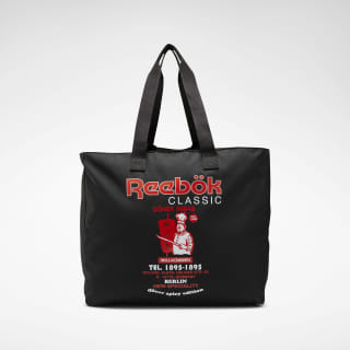 Classic Graphic Food Tote Black ED1271