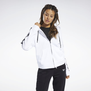 Training Essentials Linear Logo Hoodie White FJ2743