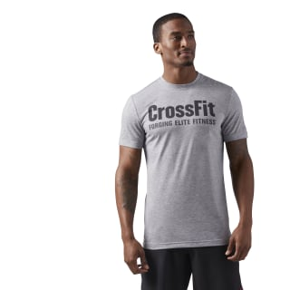 Reebok CrossFit Speedwick F.E.F. Graphic Tee Medium Grey Heather / Coal CF4544