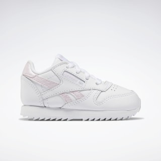 Classic Leather Shoes White / Pixel Pink / None EG5966