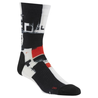 Reebok CrossFit Men Printed Crew Socks Multicolor CZ9921