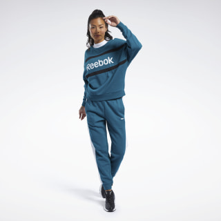 Training Essentials Linear Logo Track Suit Heritage Teal FQ3177