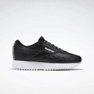 Reebok Royal Glide Ripple Shoes Black / White / White EG9487