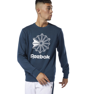 Classics French Terry Big Iconic Crewneck Blue Hills/White DT8124