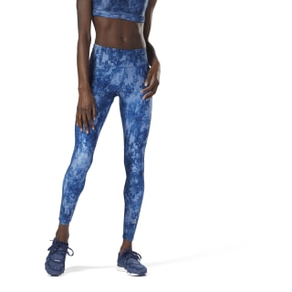 Running Tights - AOP Bunker Blue CY4631