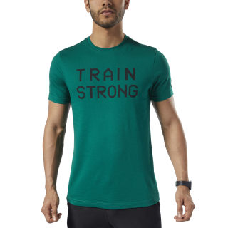 Graphic Series Train Strong Tee Clover Green EC2064