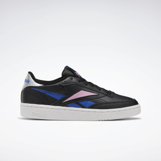 Club C 85 Women's Shoes Black / Humble Blue / Jasmine Pink EH0669