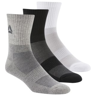 Носки Active Foundation Mid-Crew, 3 пары white/black/medium grey heather DU3016